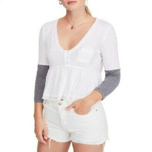 NWT Free People Womens Heart of Mine Relaxed Top